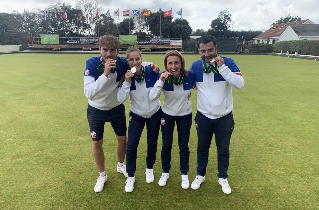France wins silver medal at Lawn Bowls European Championship!